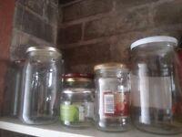 Jam jars with lids
