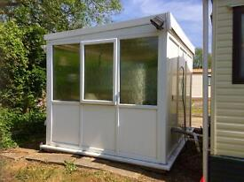 Conservatory/ Summer House, free standing,10 x 8ft Upvc d.g, vgc. Lockable.Buyer to dismantle. £600