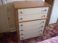 2 WARDROBES AND CHEST OF DRAWERS . can deliver locally.