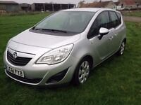 2012 61 Vauxhall Meriva 1.7 cdti automatic exclusive 30,000 miles