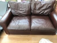House of Fraser leather sofa