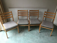 Four Upholstered Dining Chairs
