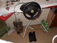 Thrustmaster Ferrari racing wheel and pedals