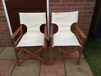 Directors chairs x2