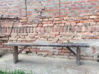 Wooden Vintage School Bench Rustic Chairs Stool Picnic Garden Decor