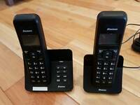 Landline hands free phone set