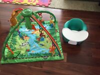 Rainforest Gym Fisher Price & Bumbo Seat Perfect Condition