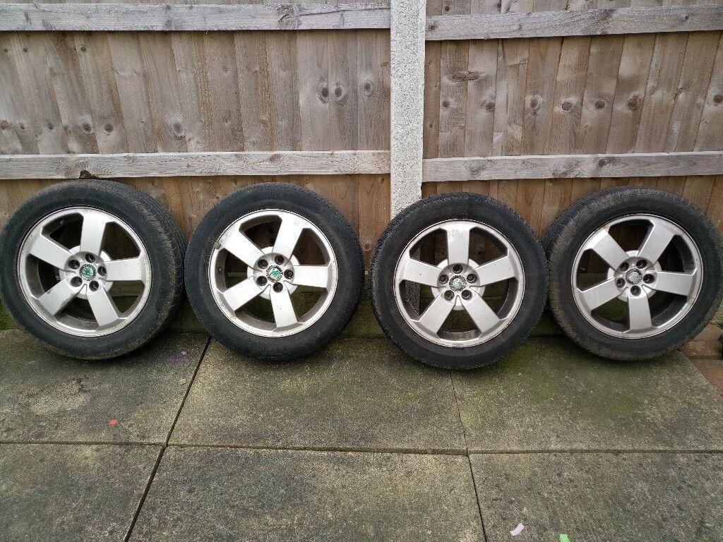 skoda octiva alloy wheels x4