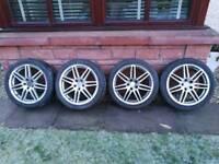 Vw audi rs4 alloy wheels 18inch pcd 5x112