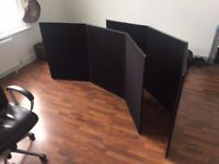 Two 3x1 Exhibition Boards Black