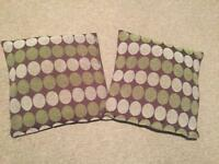 2 x sofa cushions with removal covers