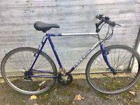 """Raleigh pioneer spirit gents hybrid bike 18 gears 23 """" frame 500 tubing 28 """"wheels"""