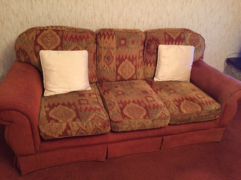 3 piece suite sofa +two armchairs