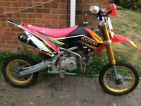 140cc welsh/stomp pit bike/ pitbike/ dirt bike/ scrambler/ demon x/ ktm