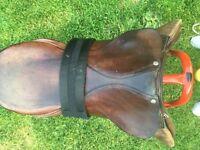 A very comfortable all brown saddle and girth
