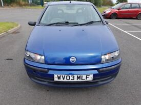 FIAT PUNTO ACTIVE, BLUE (03) PLATE ** MOT JULY 2018 **
