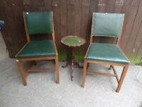 2 x Chairs with small Side Table Delivery Available