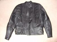 belstaff short leather biker jacket size 44
