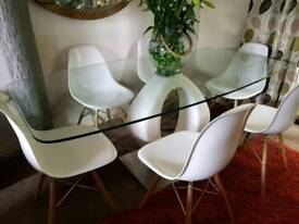 Barker and Stonehouse glass table and chairs