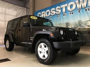 2014 Jeep Wrangler Unlimited Sport 4X4 3.6L V6 5 Speed Auto | Vo