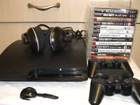 Sony playstation 3 slim with 16 games