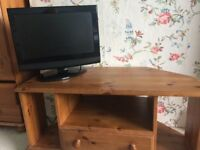 tv stand and tv (suitable for a bedroom. small and unobtrusive