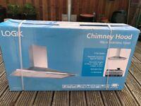 LOGIK 90cm Stainless Steal Chimney Hood *NEW - box still sealed
