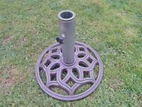 Antique Cast Iron Parasol Base or Stand