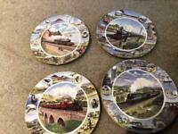 4 Train Plates Royal Doulton Limited Addition Wish you were here collection R524 Excellent condition