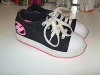 **HEELYS BARGAIN** duel heelys - pink / black / white heelys - great buy