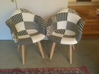 Funky pair of tub chairs