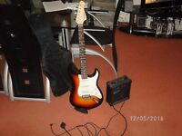 electric guitar with amp brand new