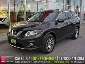 2015 Nissan Rogue SL AWD | Navigation, Leather, Pano Sunroof