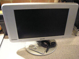 "Phillips 17"" Flat Widescreen LCD TV / Monitor (Swindon)"