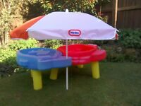 Little Tikes Sand and Sea Play Table with Sun Umbrella and Toys