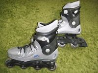 Roller blades by British Knights, Size 9. Good condition although a few scrapes. Pick up only