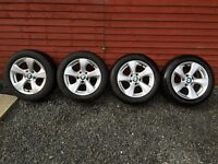 """New Dunlop Winter Tyres on BMW 16"""" Alloy Wheels - 205 55 16"""