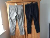 Ladies h&m ankle length trousers, size 10 - £3 each