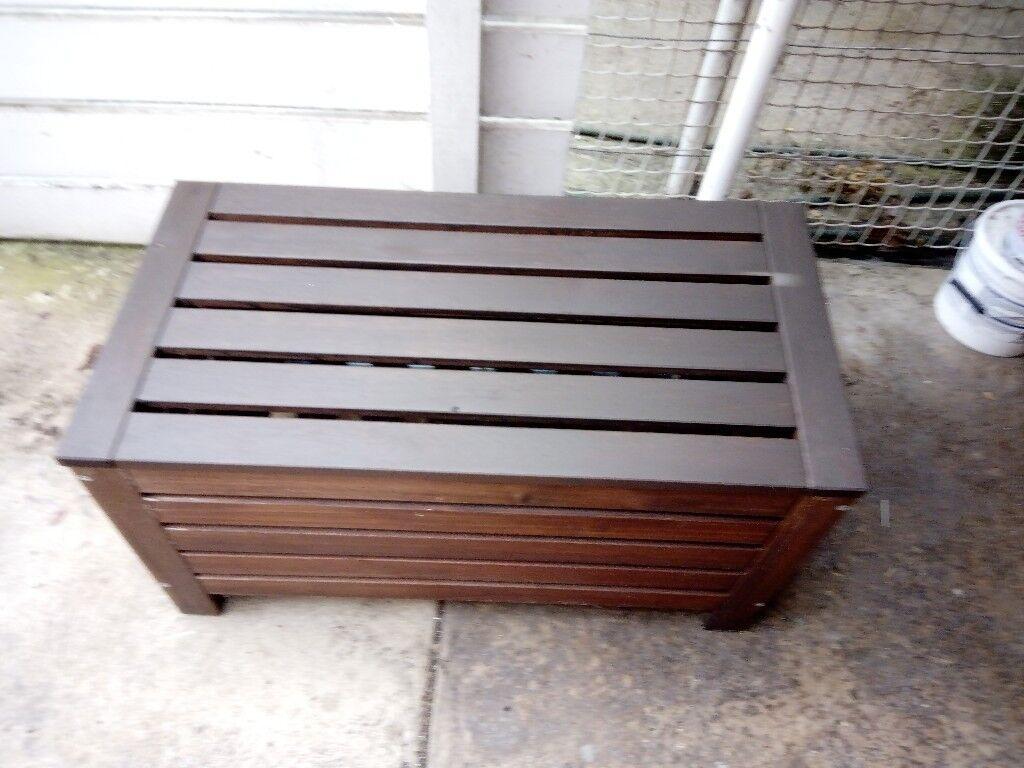 Admirable Wooden Garden Storage Bench In Whitnash Warwickshire Gumtree Inzonedesignstudio Interior Chair Design Inzonedesignstudiocom