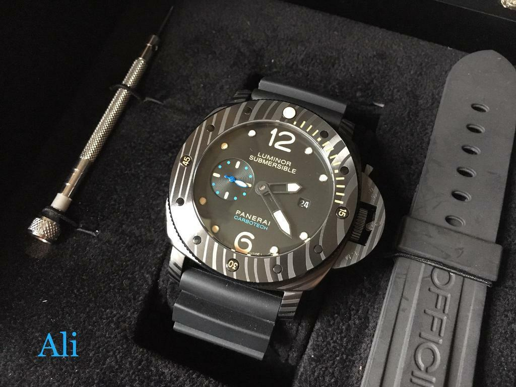 Swiss Panerai Submersible Carbotech Automatic Watch
