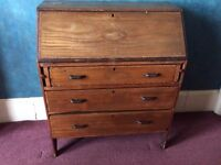 Antique Cabinet with Shell Inlay