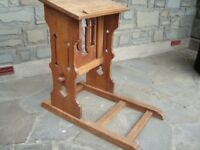 SOLID OAK PRAYER DESK IN BEAUTIFUL UNRESTORED CONDITION 33INCH TALL REDUCED TO ONLY £120 QUICK SALE