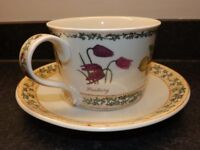 Dunoon Breakfast Cup and Saucer in original box. Unused. Nature Trail design by Richard Partis