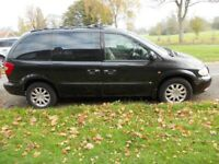 Chrysler Voyager CRD LX 2.5 Diesel Manual. Black, 7 leather seats in good condition. MOT & Tax
