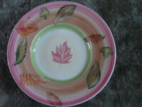 Large pink plate suitable for fruit or display 40 cm diameter