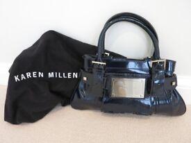 Karen Millen Blue Patent Leather Handbag Never Used
