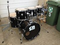 CB 6 drum kit with all stands, good condition, NO CYMBALS