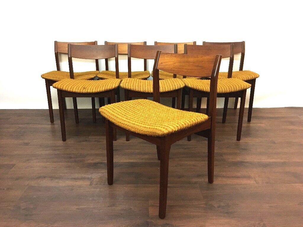 8 Retro Teak McIntosh Dining Chairs Mid Century Modern Vintage Danish Scandinavian Style