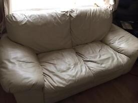 Sofa Settee in white for sale