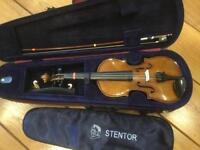 Stentor Student 1/2 (Half) Size Violin with Case, Bow, Shoulder Rest